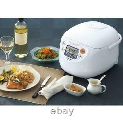 Zojirushi Micom 10-Cup Cool White Rice Cooker and Warmer with Built-In Timer