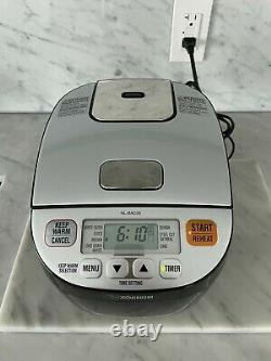 Zojirushi Micom 3-Cup Rice Cooker & Warmer, Silver Black