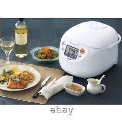 Zojirushi Micom Rice Cooker and Warmer (10-Cup/White) with Stir Spatula & Mitt