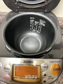 Zojirushi NP-GBC05 Induction Rice Cooker with Warmer 3 Cups EUC