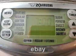 Zojirushi NP-HBC10 Induction Heating System Rice Cooker Warmer 5.5 cup 120V