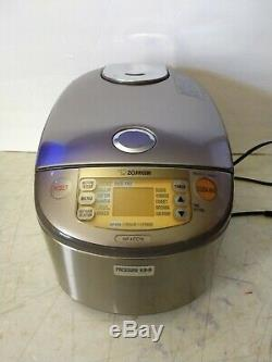 Zojirushi NP-HTC18 Rice Cooker & Warmer, 1.8L (10-cup), Pressure IH, Stainless