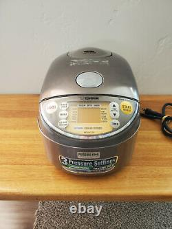 Zojirushi NP-NVC10 5.5-Cups Electric Rice Cooker & Warmer -Brown Induction Heat