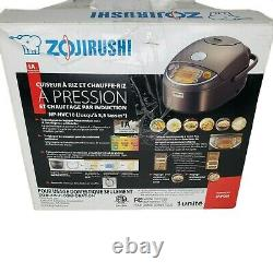 Zojirushi NP-NVC10 Induction Pressure Rice Cooker 5 Cup New