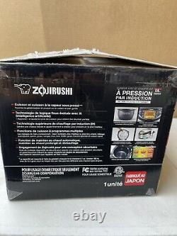 Zojirushi NP-NWC10XB Pressure Induction Heating Rice Cooker & Warmer, 5.5 Cup