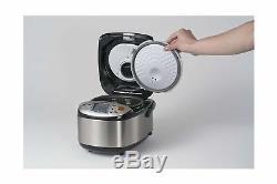 Zojirushi NS LGC05XB Kitchen Micom Rice Cooker Warmer 3 Cups Stainless Black New