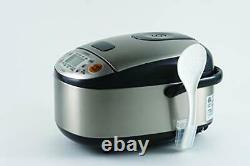 Zojirushi NS-LGC05XB Micom Rice Cooker & Warmer, 3-Cups Stainless Black