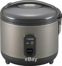 Zojirushi NS-RPC10HM Rice Cooker and Warmer, 1.0-Liter, Metallic Gray 5 CUP