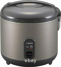 Zojirushi NS-RPC18HM Rice Cooker and Warmer, 1.8-Liter, Metallic Gray NEW 10 CUP
