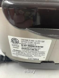 Zojirushi NS-TSC10 Rice Cooker Warmer Sushi Micom Brown 5-1/2-Cup Uncooked READ