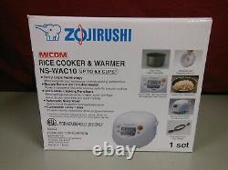 Zojirushi NS-WAC10-WD 5.5-Cup Rice Cooker and Warmer White