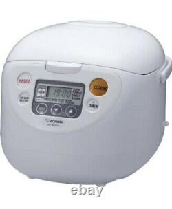 Zojirushi NS-WAC18WD Fuzzy Logic 10-Cup Rice Cooker and White