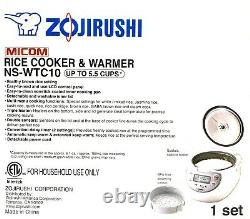 Zojirushi NS-WTC10 (5.5 Cup) MiCOM Rice Cooker and Warmer