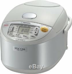 Zojirushi NS-YAC10 Umami Micom 5-Cup Rice Cooker & Warmer, Pearl White