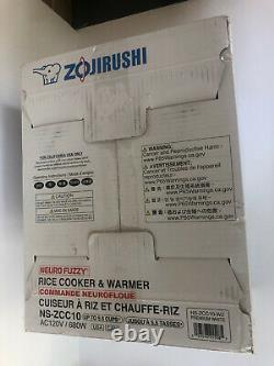 Zojirushi NS-ZCC10 5-1/2-Cup Neuro Fuzzy Rice Cooker and Warmer, Premium White