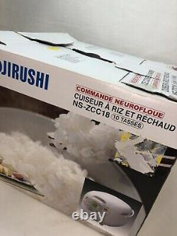 Zojirushi NS-ZCC18 10-Cup Neuro Fuzzy Rice Cooker, OPEN BOX White