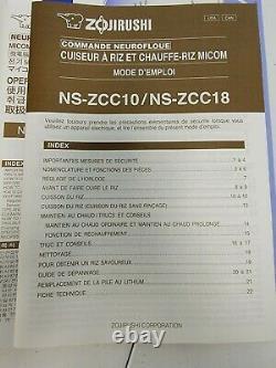 Zojirushi NS-ZCC18 Neuro Fuzzy 10 Cup Rice Cooker & Warmer 1.8 Liters White