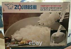 Zojirushi Neuro Fuzzy NS-ZCC18 10-Cup Rice Cooker and Warmer White