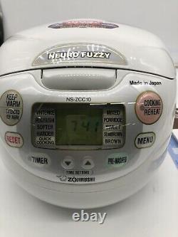 Zojirushi Neuro Fuzzy Rice Cooker, 10 cup, Premium White
