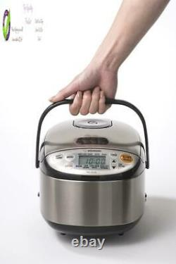 Zojirushi Ns-C05Xb Micom Rice Cooker Warmer, 3-Cups (Uncooked), Stainless Blac