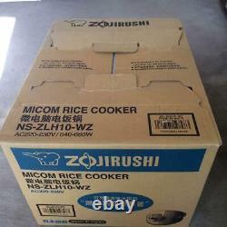 Zojirushi Overseas Microcomputer Rice Cooker NS-ZLH10-WZ/220-230V 5 Cup New
